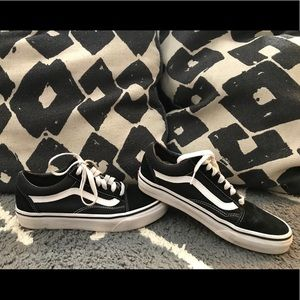 Black Old Skool Vans - Lowtop